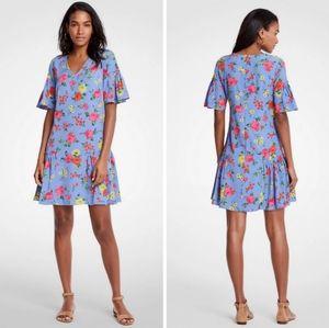 ANN TAYLOR flower print dress. Size 8